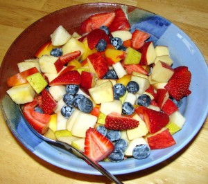 Fruit and berries supply antioxidants